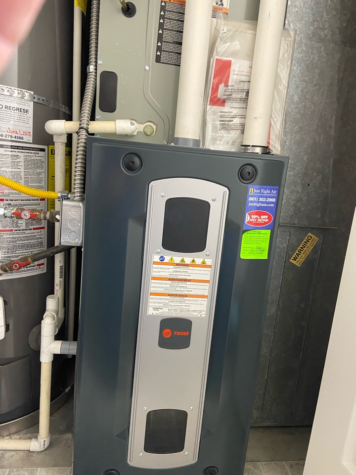 West Jordan, UT - Tune up a Trane furnace with a Honeywell thermostat.