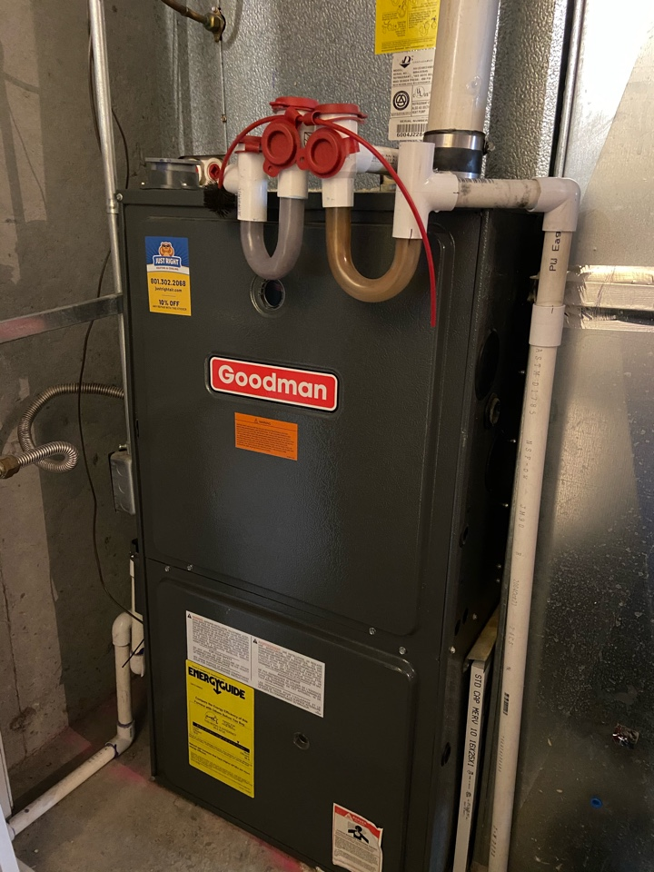 Midvale, UT - Tune up a Goodman furnace with a Nest thermostat.