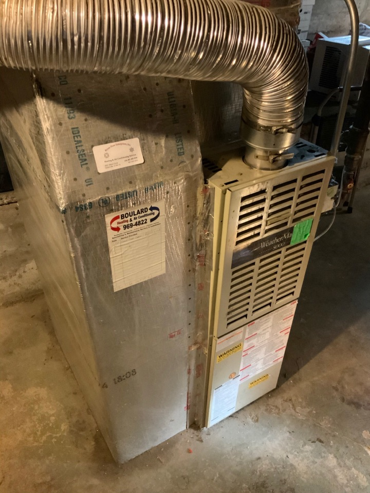 South Salt Lake, UT - Giving an estimate to replace a 27 year old carrier furnace with a new more efficient option. They are looking to sell the home soon as well and so are considering their options