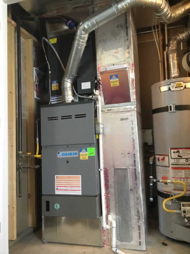 Farmington, UT - Installed new daikan furnace and air conditioner