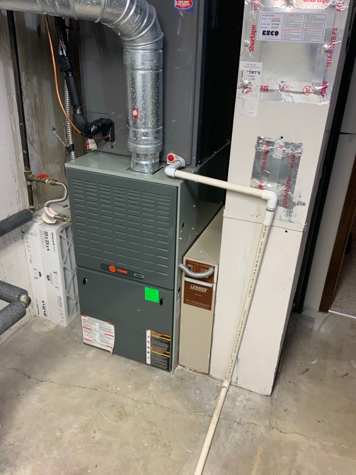 Holladay, UT - Giving a free estimate to replace an 18 year old Trane furnace. They want to be proactive and are planning on replacing with another Trane furnace