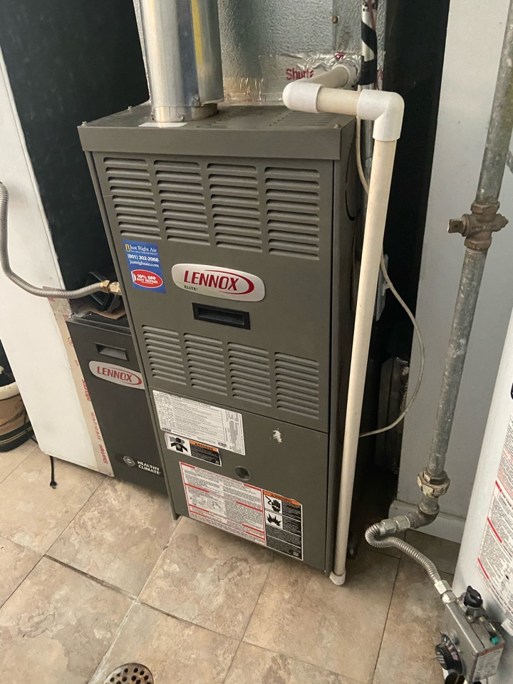 Salt Lake City, UT - Tune up a Lennox furnace with a Honeywell thermostat.