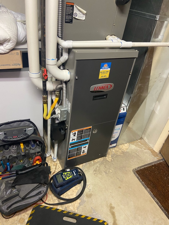 Sandy, UT - Tune up a Lennox furnace with a Honeywell thermostat