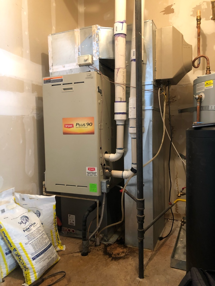 Park City, UT - Giving an estimate to replace a humidifier with a new one that will increase their ability to humidifier more of their home.
