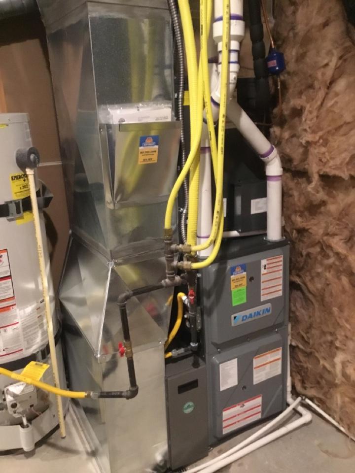 South Jordan, UT - Installed new daikan furnace and heat pump