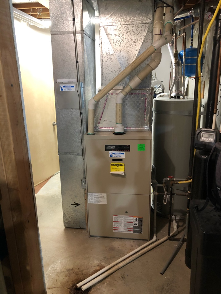 Park City, UT - Giving an estimate to replace the 20 year old Lennox furnace. They also want to add on A/C as they don't have any currently.