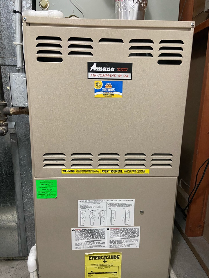 West Valley City, UT - Repair broken Amana furnace with a Lux thermostat