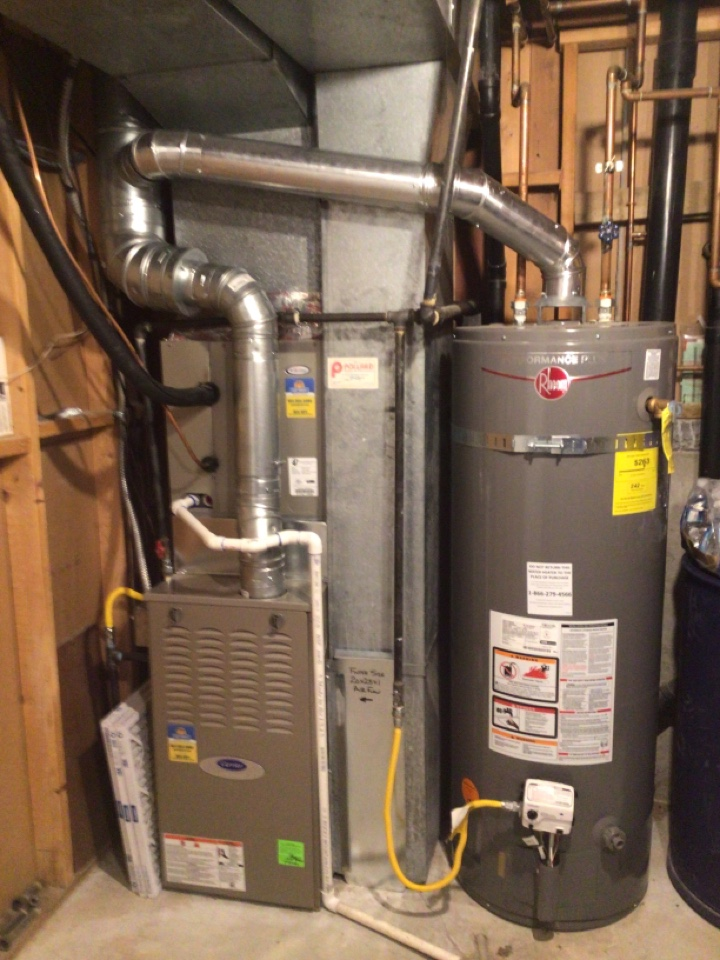 Sandy, UT - Install new carrier 80% to stage furnace