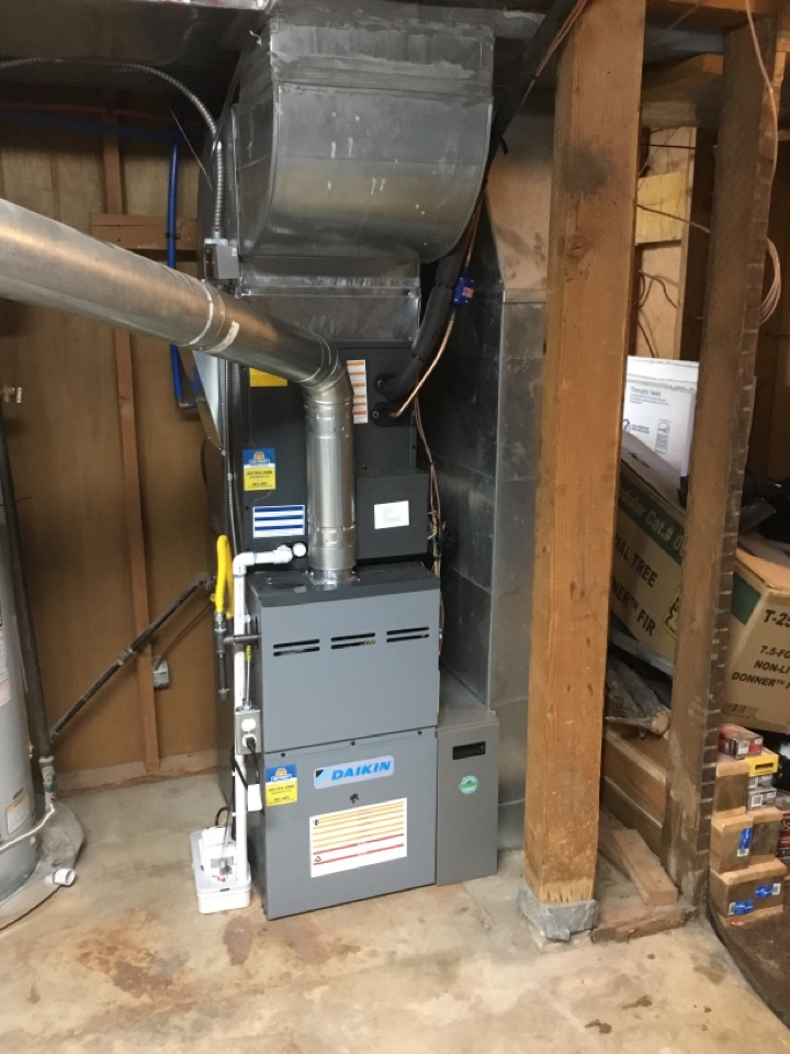 """North Salt Lake, UT - Install new furnace, coil, pump, and surge protector with new 4"""" media filter"""