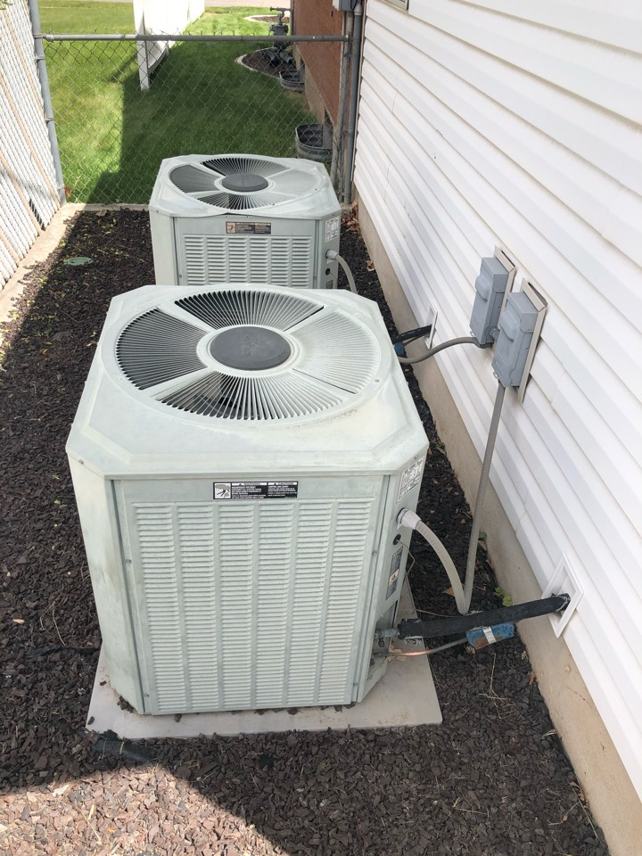 Roy, UT - Replacing an old tired trane air conditioner with a new high-efficiency trane air conditioner