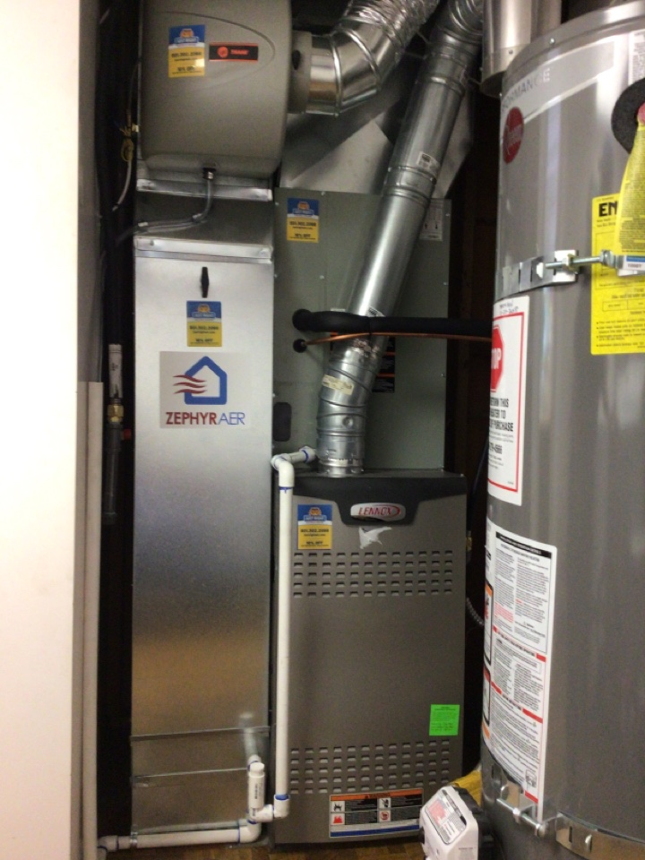 Murray, UT - Install new Trane ac coil. And Zypher air filter.