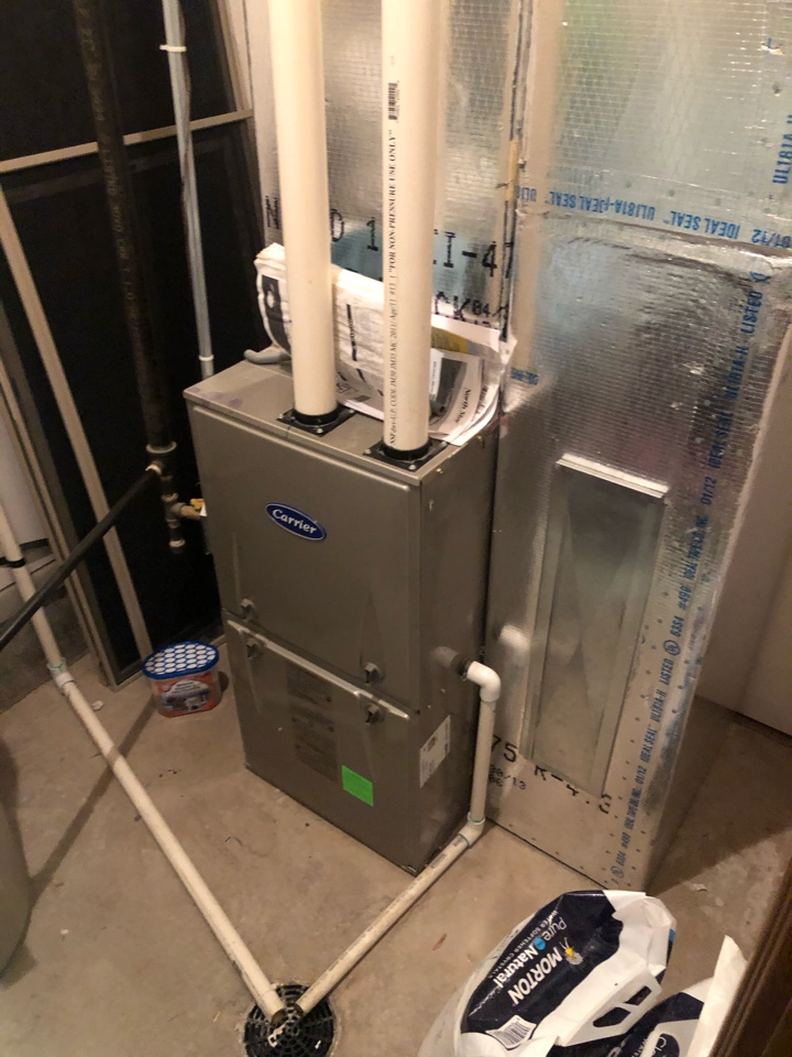 Park City, UT - Giving an estimate to install an a/c. The refrigeration lines are already run and so is the dedicated power. The customer is looking at better air filtration as well while investigating this.