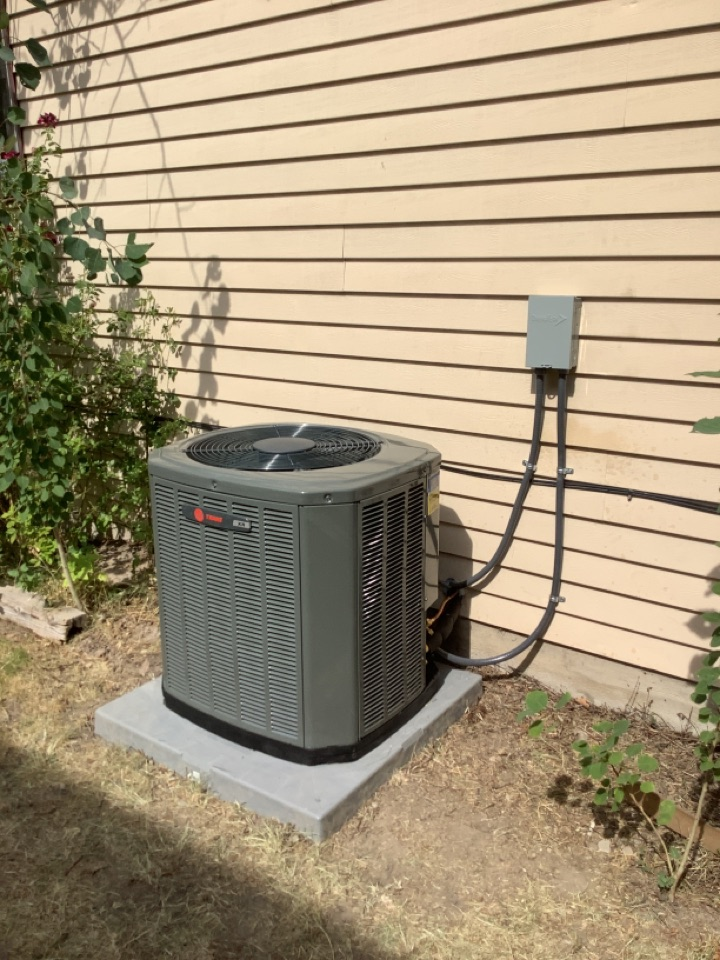 West Jordan, UT - Installed a Trane central air conditioning system