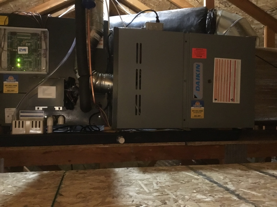 Riverton, UT - Installed new daikan furnace and air conditioner