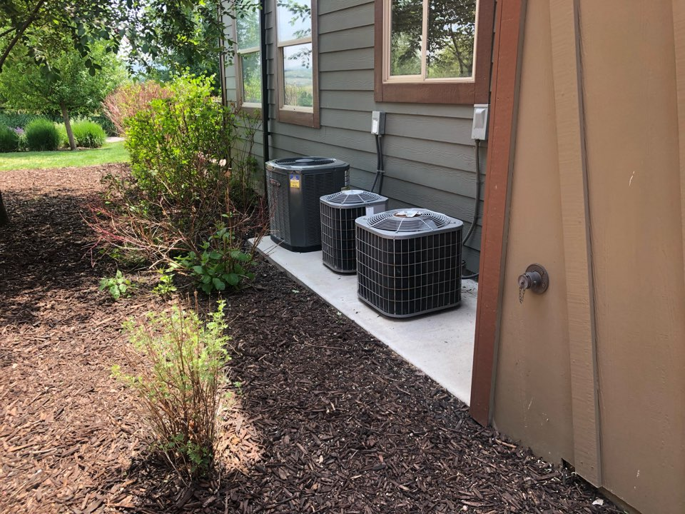 Park City, UT - Giving an estimate to replace a furnace in a crawlspace and an air conditioner. It is a carrier system from 2004. They want something more efficient and that will work better.