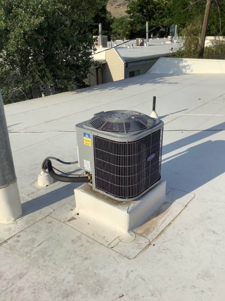 Bountiful, UT - Installed a new carrier central air conditioning system