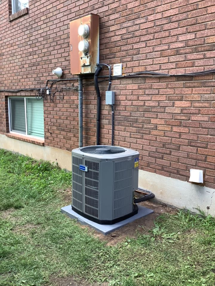 Farmington, UT - Installed an American standard central air conditioning system