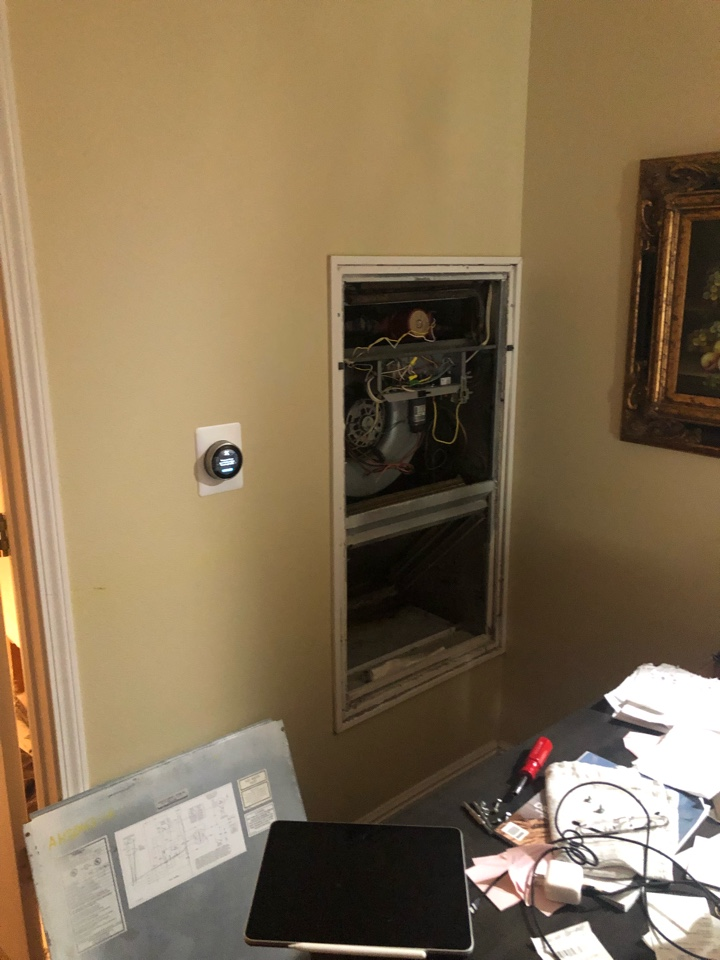 South Salt Lake, UT - Giving an estimate to replace an air handler and air conditioner. The apartmen above has leaked water and damaged their system and part of their home. We are there to replace damaged equipment.