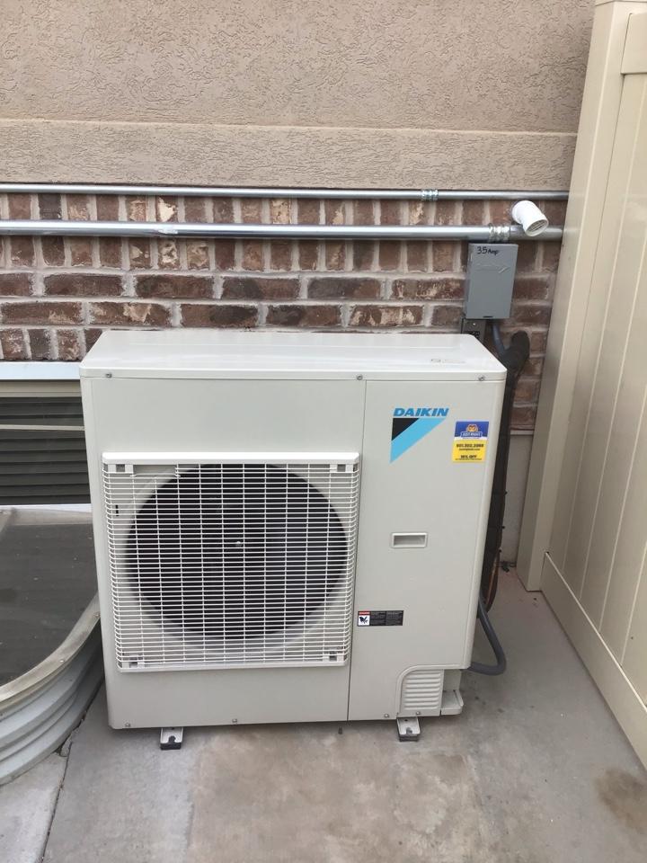 Kaysville, UT - New Daikin air conditioner