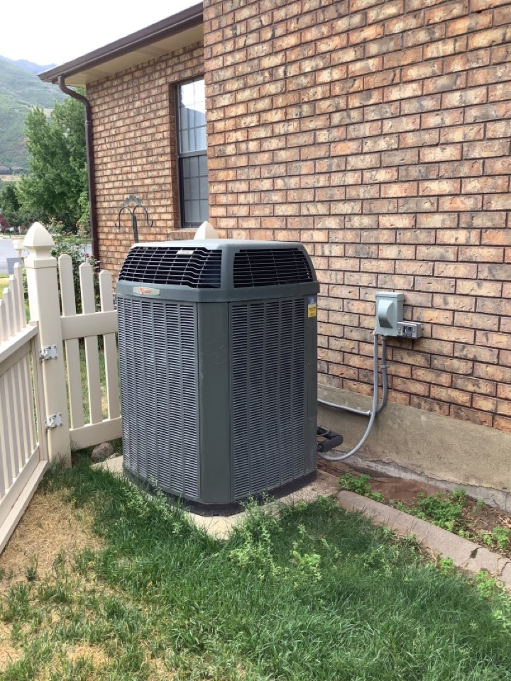 Layton, UT - Removed existing central air