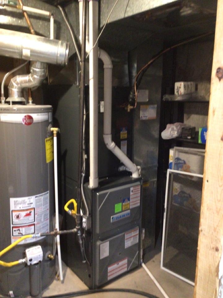 Riverton, UT - Install new daikin high efficient furnace with new AC.
