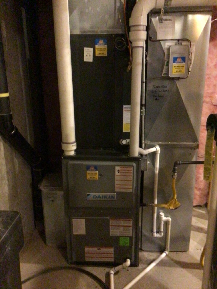 Riverton, UT - Install new Daikin two stage air conditioner And high efficient furnace.