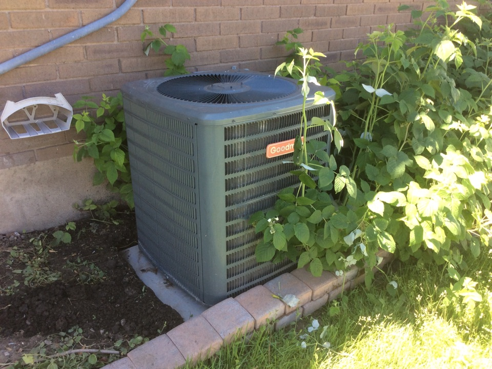 Woods Cross, UT - Factory warranty air conditioning service on a Goodman AC unit
