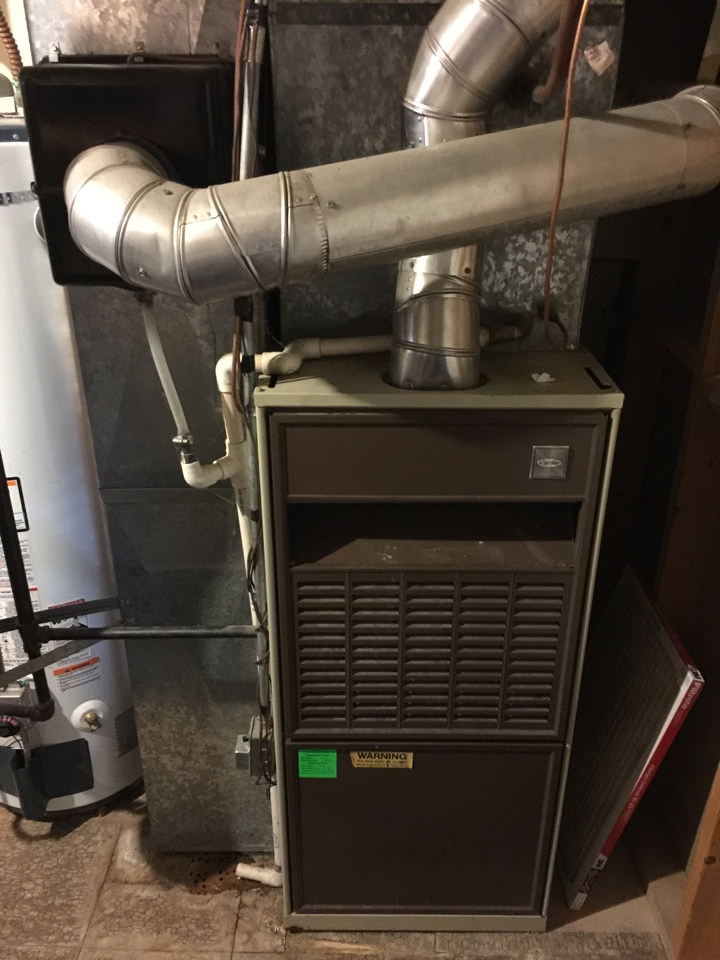 West Point, UT - Gave a bid to replace the original 33 year old Carrier furnace and A/C with a new High efficient Trane furnace and A/C system along with a Nexia WiFi thermostat and whole home filter.