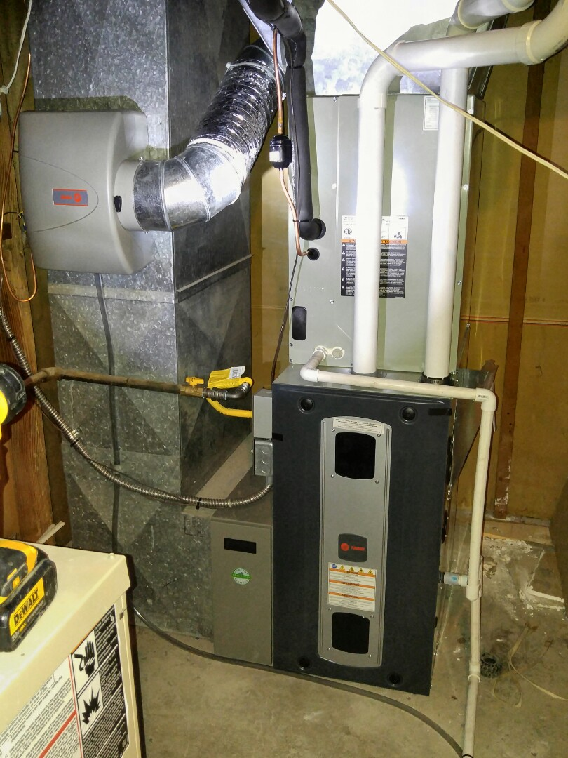 North Salt Lake, UT - Replace Goodman furnace and install Trane xv95 furnace and add air conditioning to the home