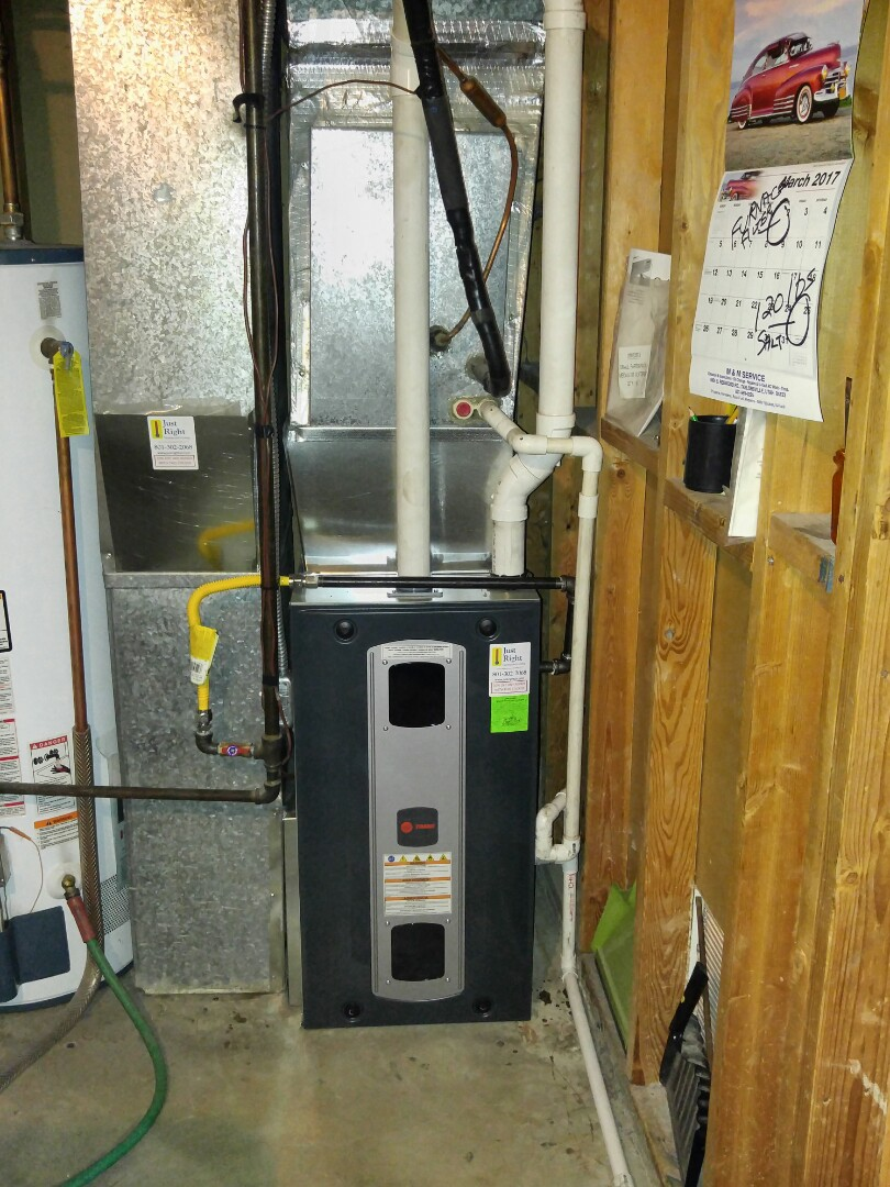 Taylorsville, UT - Replace Lennox Elite furnace with new Trane xv95 furnace