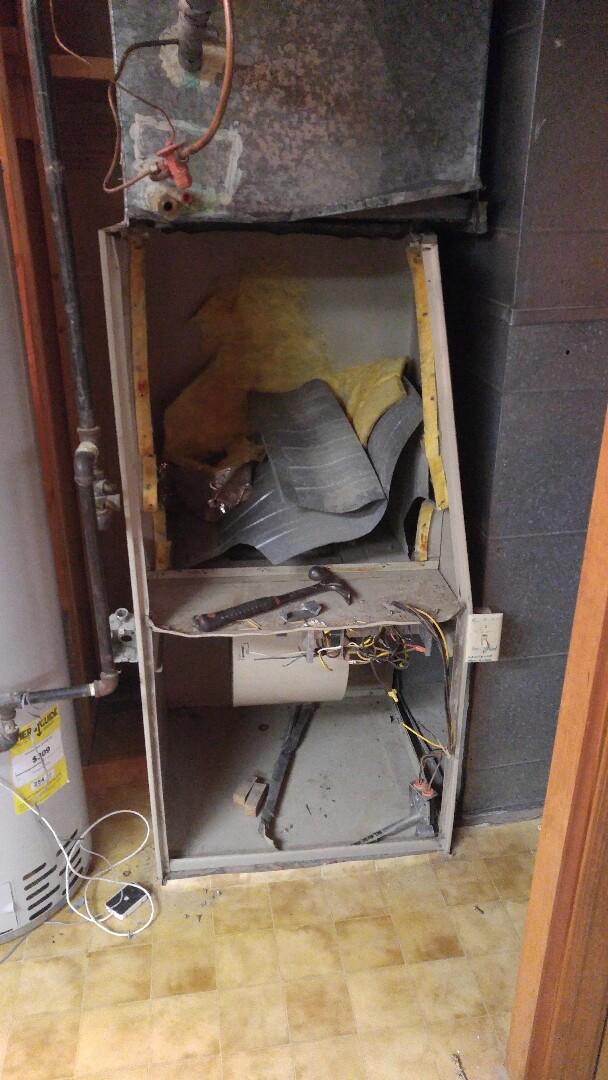 Sandy, UT - Removed old 80% furnace
