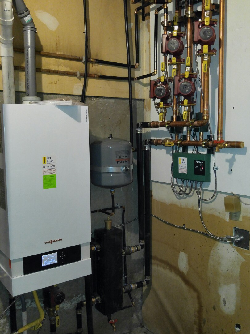 Salt Lake City, UT - Replacing old cast iron boiler with Viessman high efficiency boiler and panel