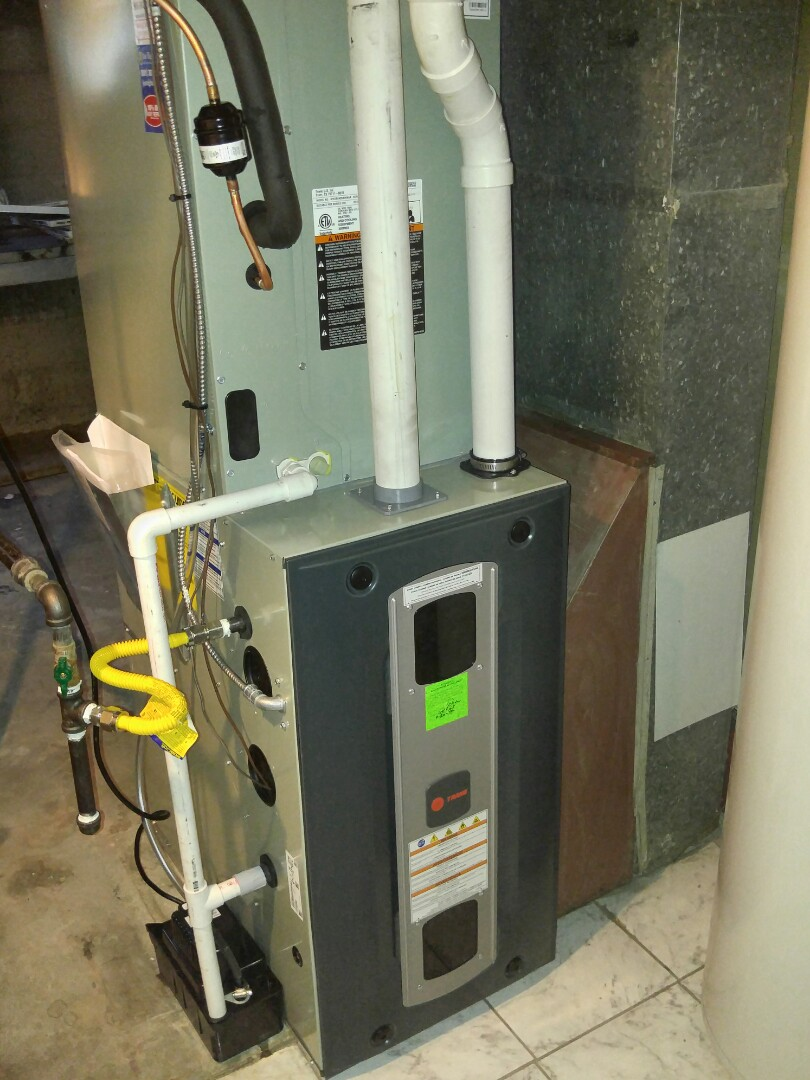 Cottonwood Heights, UT - Replace carrier furnace and AC with new train furnace and air conditioner