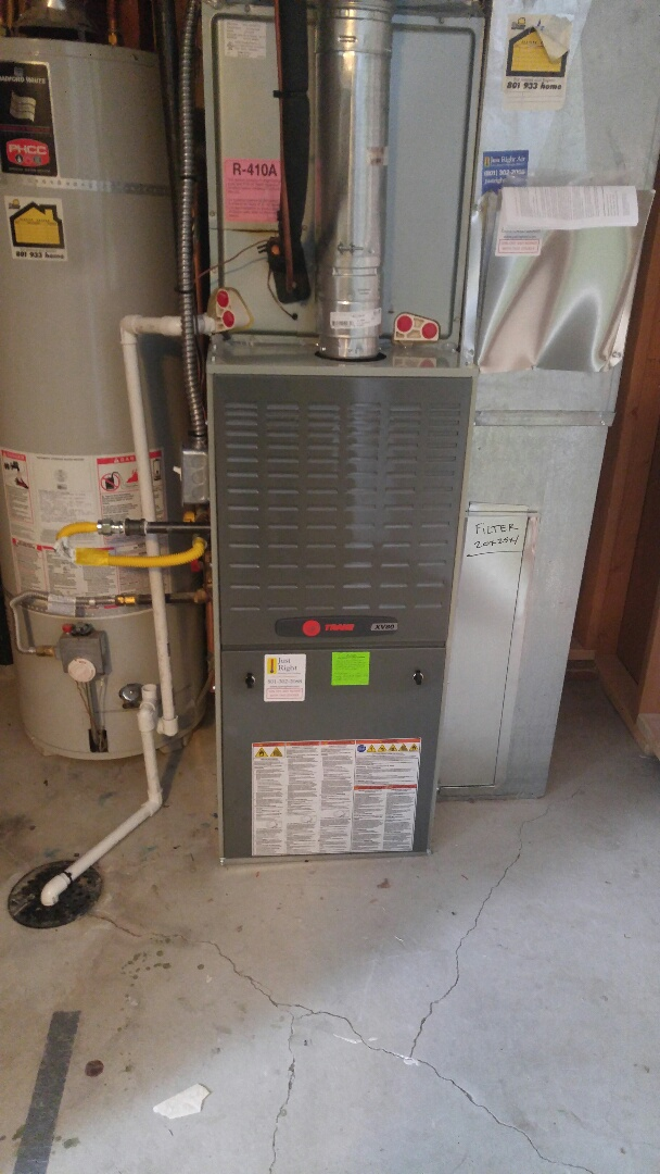 West Valley City, UT - Installed a xv80 Trane 2 stage furnace