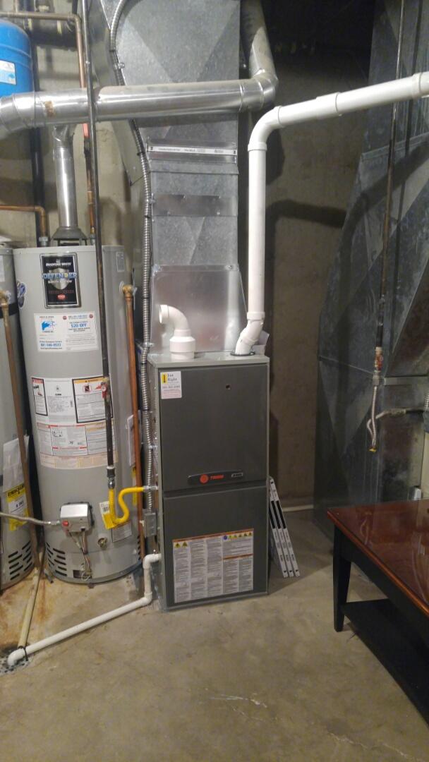 Kaysville, UT - Installed a Trane XR95 High efficiency furnace