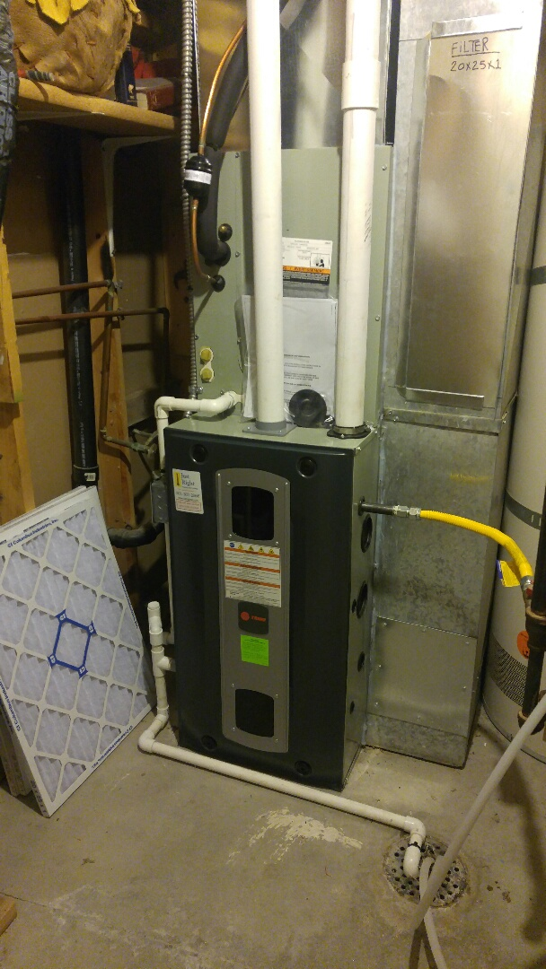 Riverton, UT - Installed a Trane SR9V2 2 stage high efficiency furnace