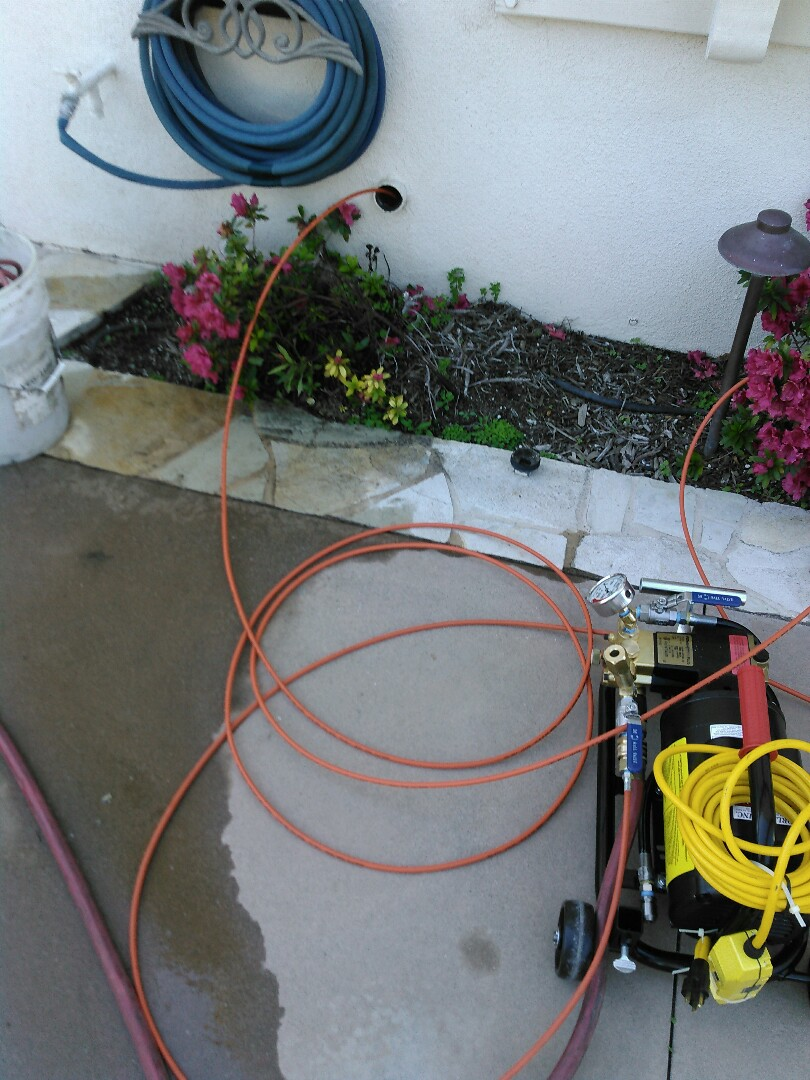 Trabuco Canyon, CA - Performed Hydro Jetter on kitchen drain line to remove grease buildup an excessive egg shells