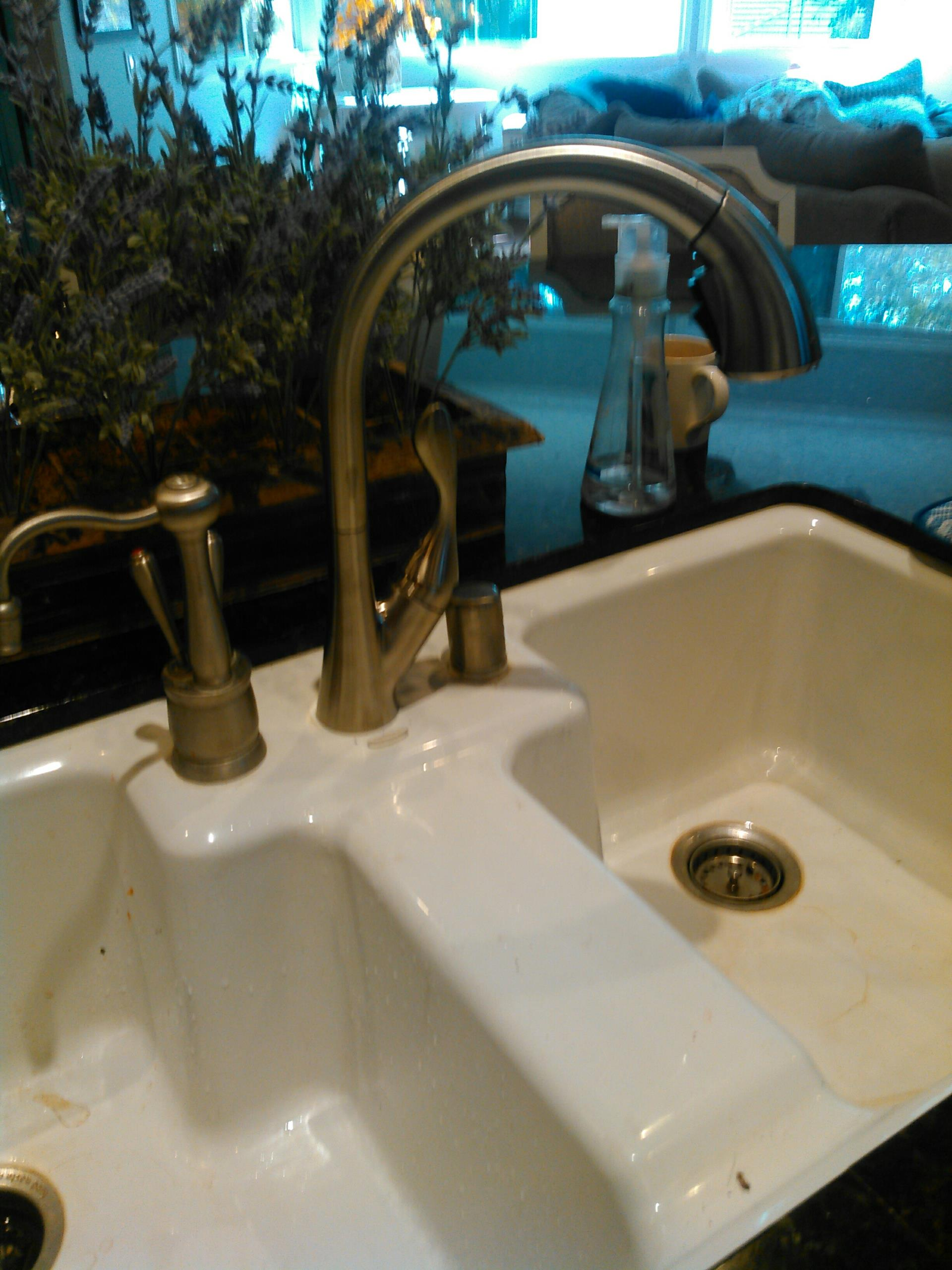 Rancho Cucamonga, CA - Installed new kitchen faucet provided by customer