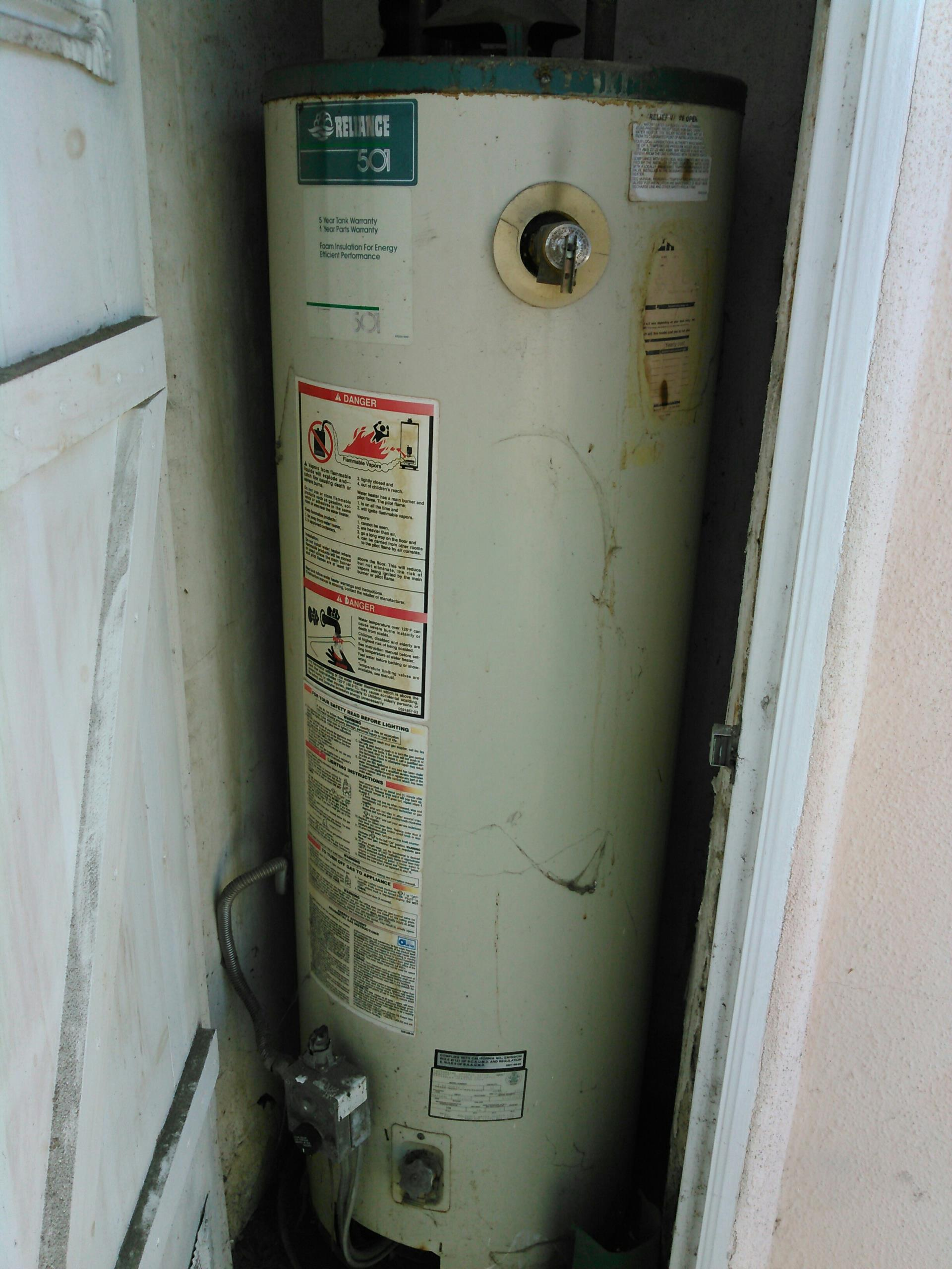Carson, CA - Water Heater Repair Estimate