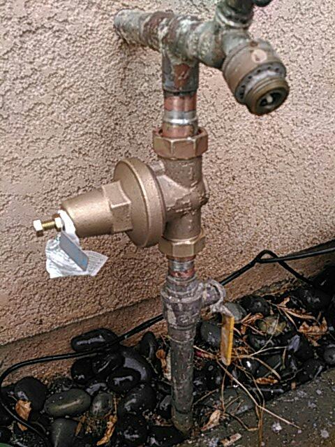 """Santa Clarita, CA - Installed 1"""" water pressure regulator"""