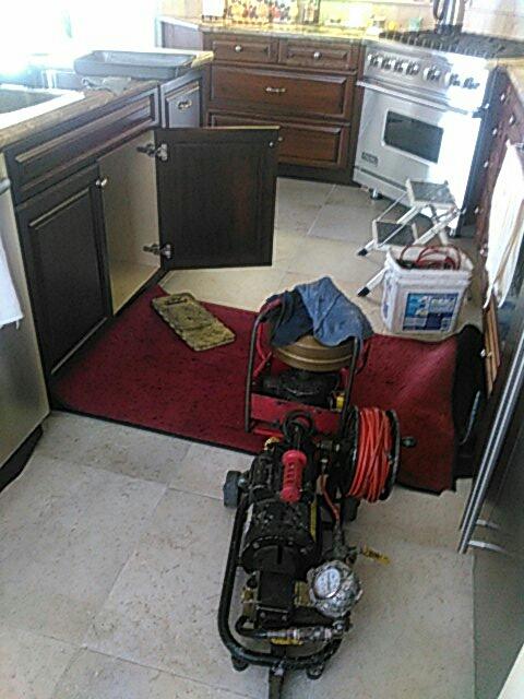 Dana Point, CA - Hydro jet kitchen line