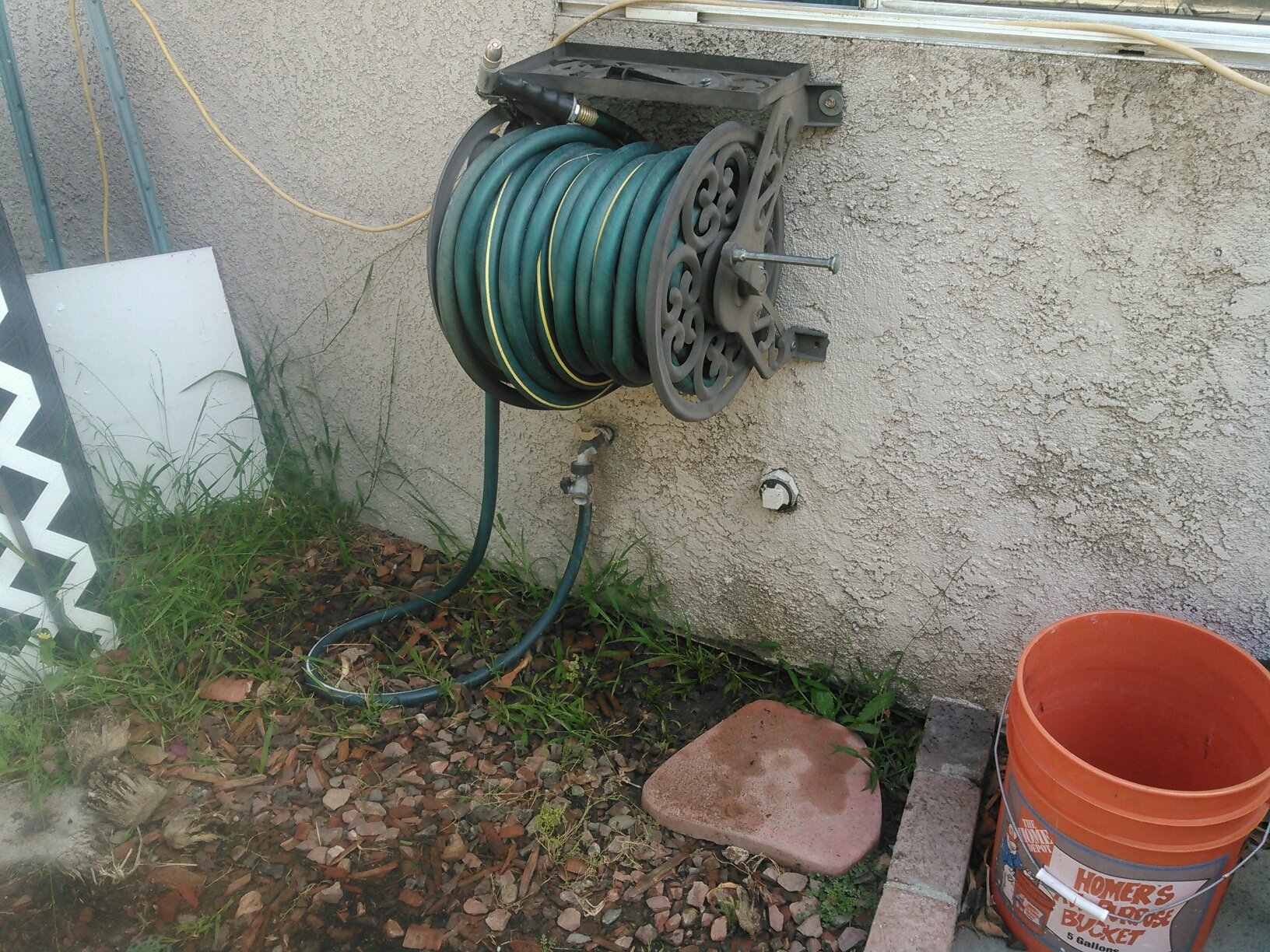 Corona, CA - Cleared out slow kitchen sink drain from exterior wall clean out access