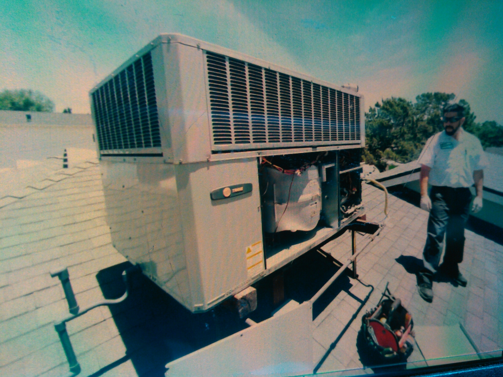 Rancho Cucamonga, CA - Repaired A/C rooftop package unit