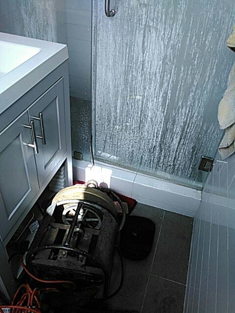 Montclair, CA - Shower stoppage