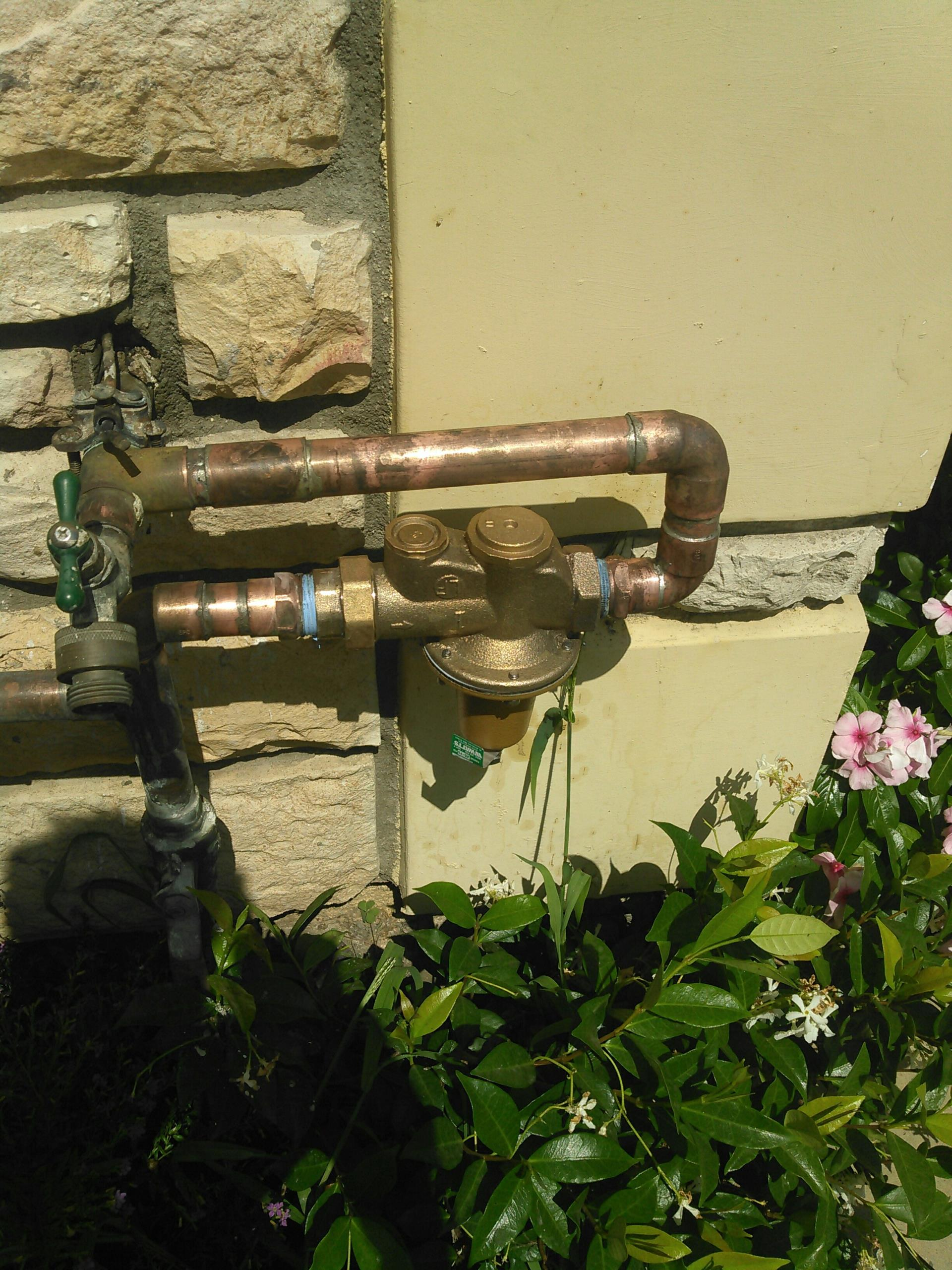 El Monte, CA - Installed new water pressure regulator