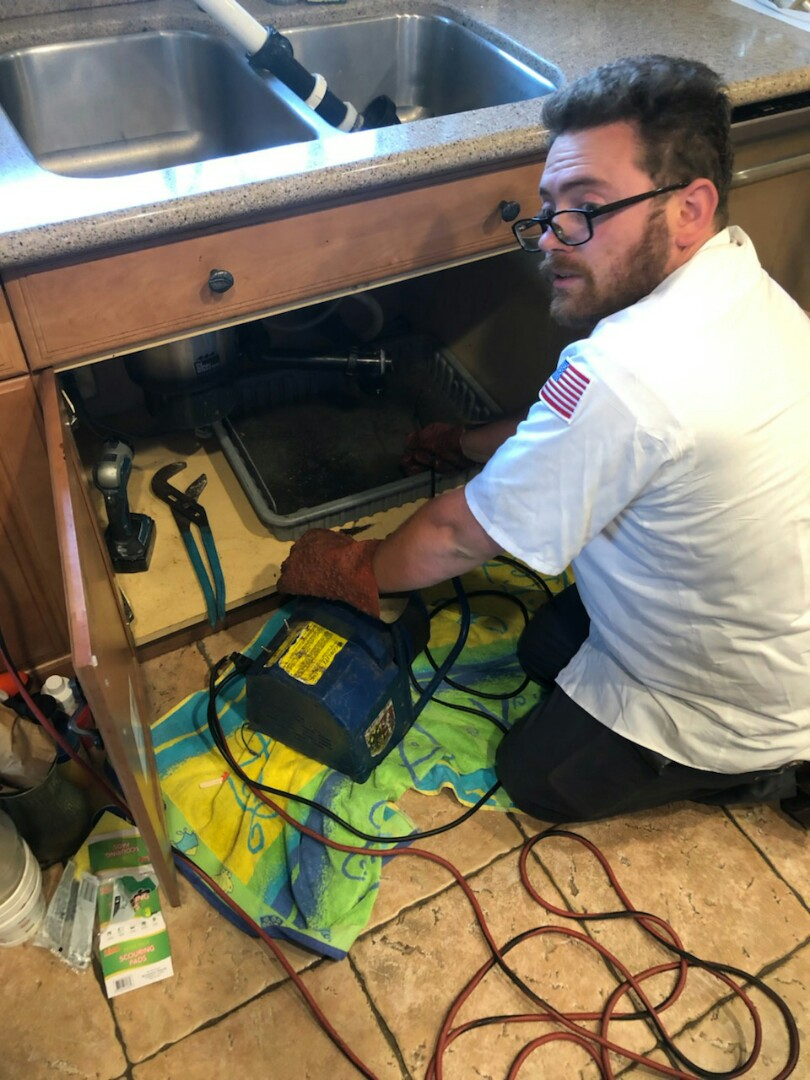 Chino, CA - Kitchen sink clog