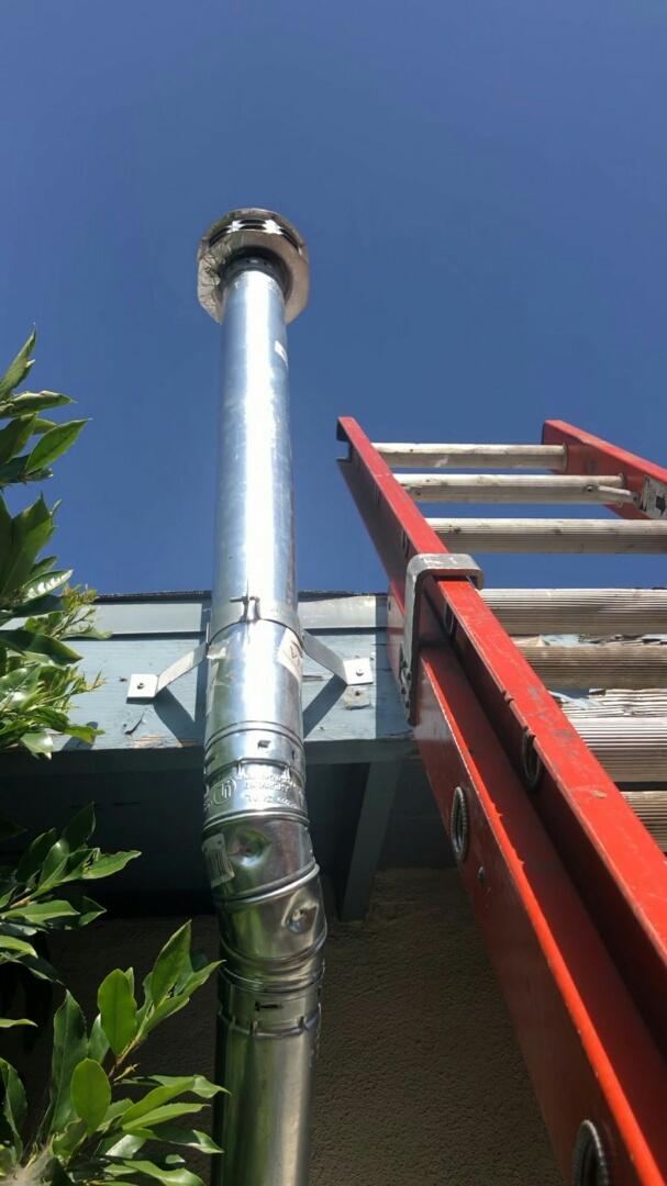 Glendora, CA - Water heater venting