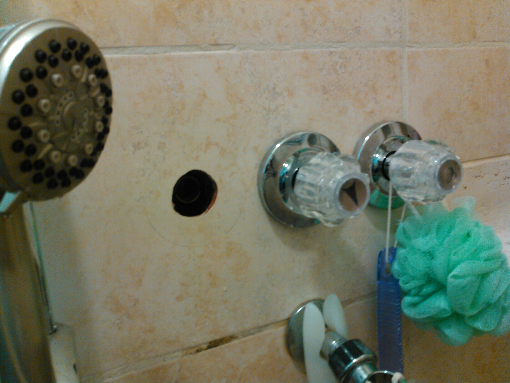La Puente, CA - Rebuild hot side stem of 3 handle shower valve