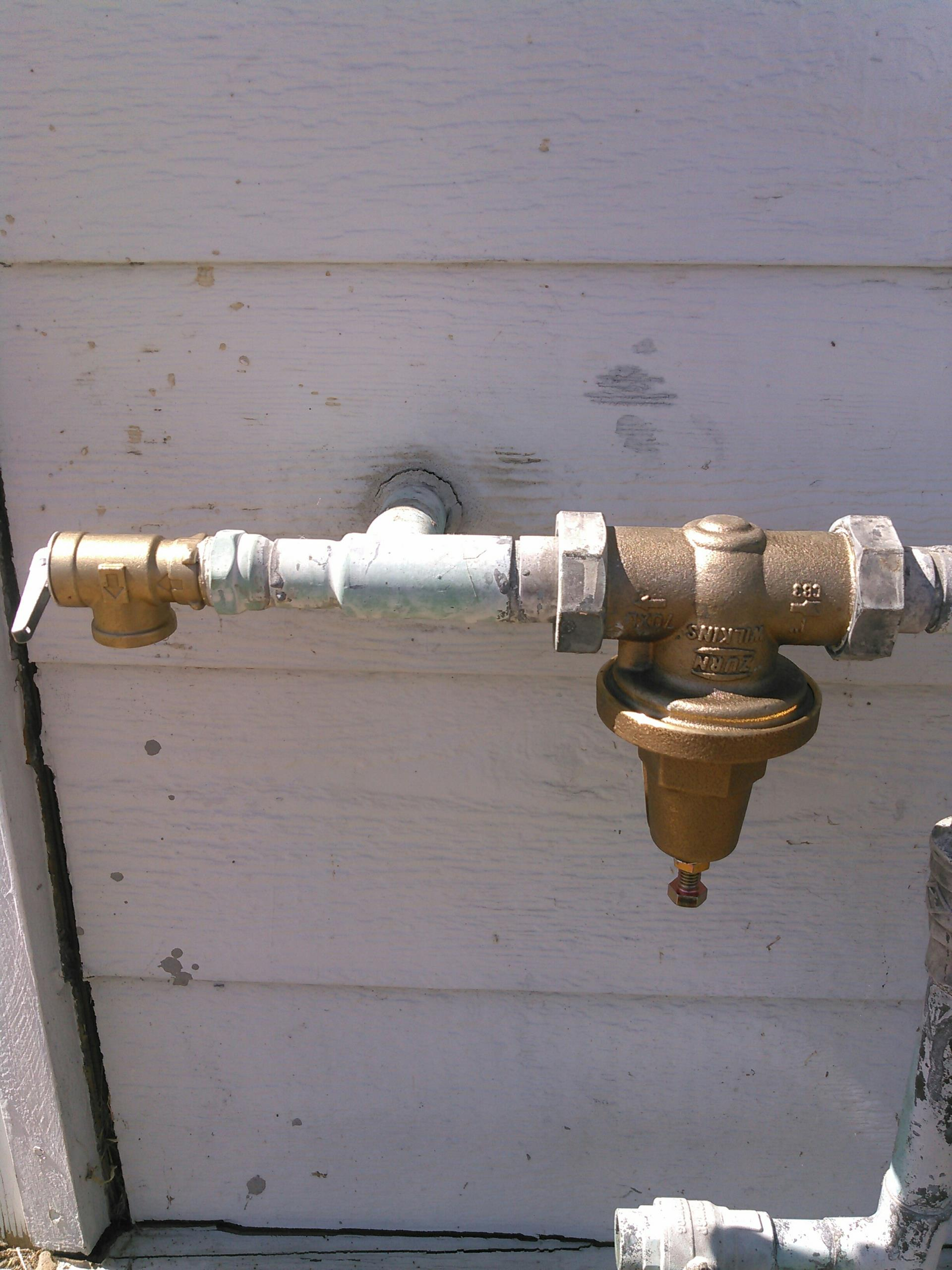 Simi Valley, CA - Install new shower valve and pressure regulator.