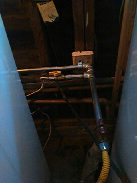 Rancho Palos Verdes, CA - Installed gas line to dryer